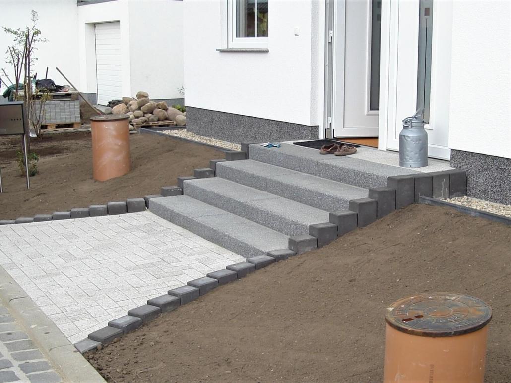 Garten- und Landschaftbau, Johannes & Johannes GbR, Pflasterarbeiten, Treppe